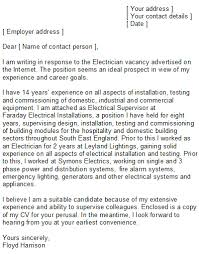 cover letter for electrical engineer