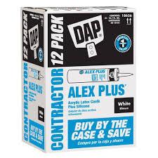Home Depot Store Hours Houston Tx Dap Alex Plus 10 1 Oz White Acrylic Latex Caulk Plus Silicone 12