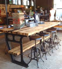 vintage metal kitchen tables and chairs iron wood industrial