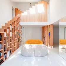 bookshelf staircases dezeen