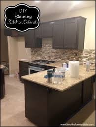 Restaining Kitchen Cabinets How To Stain Kitchen Cabinets Darker Best Home Furniture Decoration