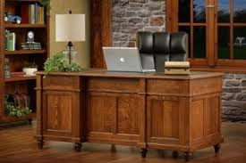 Solid Oak Office Furniture by Amish Solid Wood Desks Countryside Amish Furniture