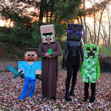 Funny Family Halloween Costumes by Minecraft Family Halloween Costume Creepers Costumes And