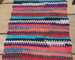Coloured Rug Rag Rug Yarn Etsy