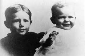 Neil Reagan and his baby brother, Ronald, born February 6, 1911. Ronald's brother, Neil, was also ... - brothers