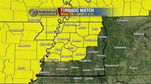 West Tennessee Map by Tornado Watch Issued For Counties In West Tennessee Wbbj Tv