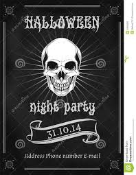 vintage halloween party flyer stock vector image 43820295
