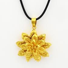 Indian Flower Design 2016 Gold Mandala Rose Indian Flower Pendant Necklace Fashion
