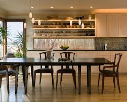 Craftsman Style Dining Room Furniture Opened Up Kitchen Shares Space With Dining Room Finne Architects