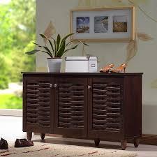 Shoe Storage Furniture by Amazon Com Rhodes Dark Brown Entryway Shoe Organizer Cabinet