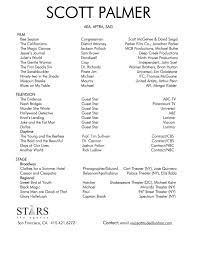 theatrical resume template professional actor resume resume for your job application scott palmer professional resume