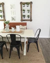 Black And White Dining Room Chairs White Farmhouse Table Black Metal Chairs Farmhouse Dining Room