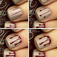 halloween manicure blood drip nail art more com