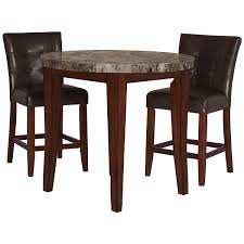 city lghts round marble high tbl 2 barstools