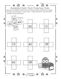printable halloween worksheets hundreds chart worksheet 10 more than 10 less than squarehead