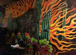 Wolf Mural by Letting It Burn With East 6th U0027s Newest Pizza A Time To Kale