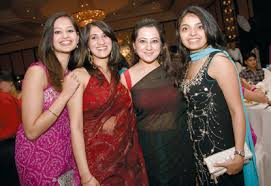 Bhavna Lakhani, Shradha Bhagchandani and Karishma Babani. picture: Kamelia Dimitrova/ITP Images. « previous 8 of 8 next » - wedding229_7_full