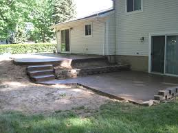 multi level patio with concrete steps stamped concrete photos
