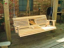 deck swing ideas free porch swing plans cup holder woodworking