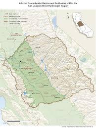 Hydrology Map San Joaquin River Hydrologic Region