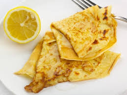 Pancakes and lemon