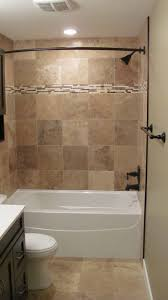 bathroom good looking brown tiled bath surround for small