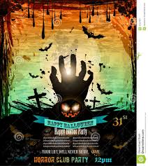 halloween flyer background free halloween party flyer with creepy colorful elements stock vector