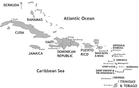 Caribbean Sea On Map by Caribbean Map