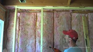 Insulating Basement Concrete Walls by Framing A Basement Wall Youtube