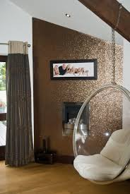 Wallpapers Designs For Home Interiors by Glitter Wallpaper Bronze Price Per Metre Amazon Co Uk