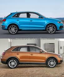 lexus vs audi q3 2015 audi q3 facelift vs older model old vs new