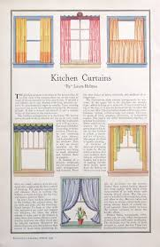 Kitchen Drapery Ideas 1931 Kitchen Curtains Illustration 1930s Sewing Room Ideas