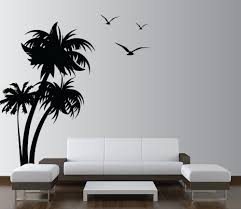 Tree Decal For Nursery Wall by Palm Coconut Tree Wall Decal With Birds 3 Trees 1132