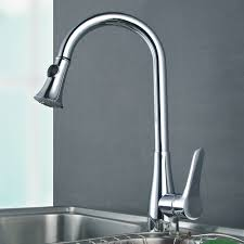 Kitchen Faucet Brass L6910 Solid Brass Singel Lever High Arc Pull Down Kitchen Faucet