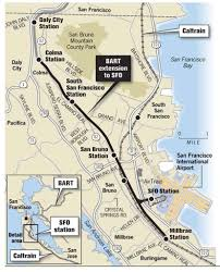 San Francisco Bart Map Bart U0027s Peninsula Line Falls Short Of Hopes Competition From