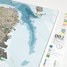 Street Map San Francisco by San Francisco Street Map Version 2 Gloss Plastic The Future