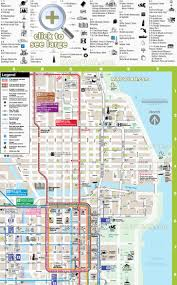 New Orleans Downtown Map by Chicago Maps Top Tourist Attractions Free Printable City