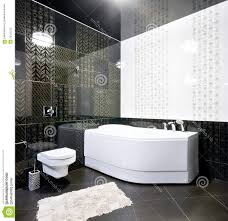 Bathroom Floor Design Ideas by Black And White Bathroom Floor Tile White Stained Wooden Framed