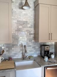 Kitchen Marble Backsplash Loft U0026 Cottage The Marble Backsplash