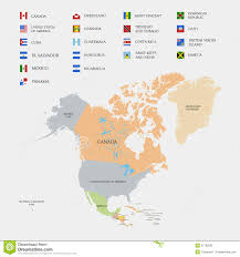 N America Map by North America Map And Flags Royalty Free Stock Photos Image