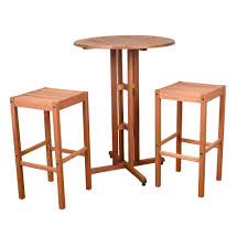 Wood Patio Furniture Sets - bistro sets patio dining furniture the home depot