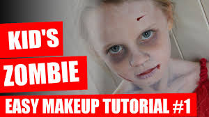 Halloween Makeup Tutorial Kids Zombie Makeup Youtube