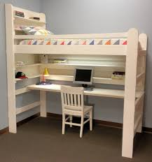 Loft Bed Bunk Bed AllInOne Sleep  Study For College Youth Child - Kids bunk bed with desk