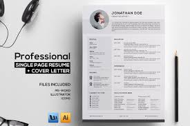 Incredible Single Page Resume   Resume Templates on Creative Market Professional single page resume