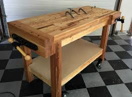 Plans For Building A Wooden Workbench by Woodworking Workbench Plan Ideas Best House Design