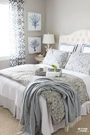 guest room refresh with birch lane setting for four birch lane