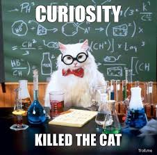 Chemistry Cat killed by curiosity?