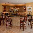 Basement Bar Designs: Basement Bar Designs With Wooden Chair ...