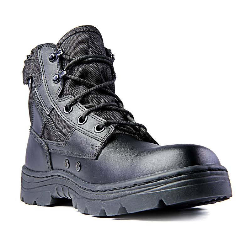 Ridge Footwear 4205 Dura-Max Mid-Zipper Tactical Black Leather Boots