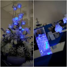 Purple Floating Candles For Centerpieces by Best 25 Led Centerpieces Ideas On Pinterest Peacock Wedding